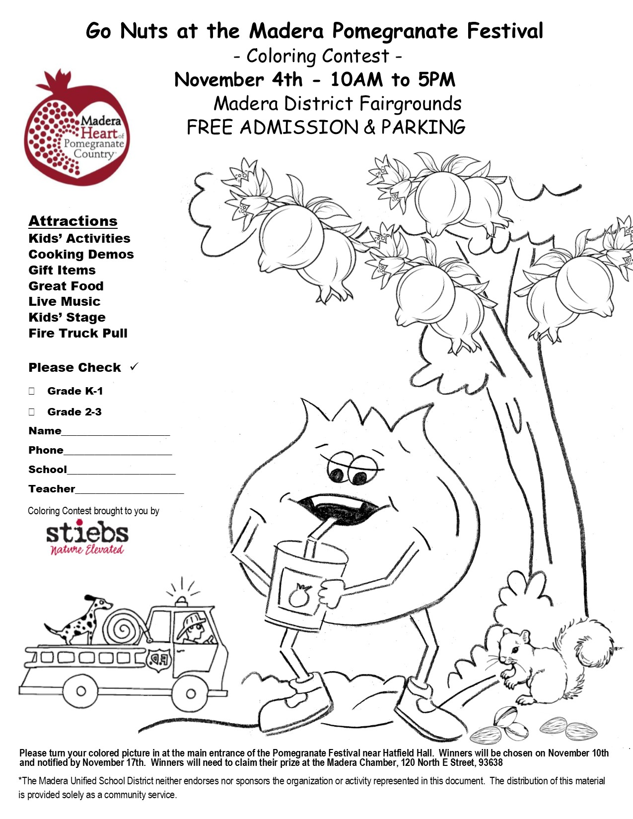 2017 Coloring Contest for Children |